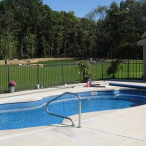 Backyard Swimming Pool Installed